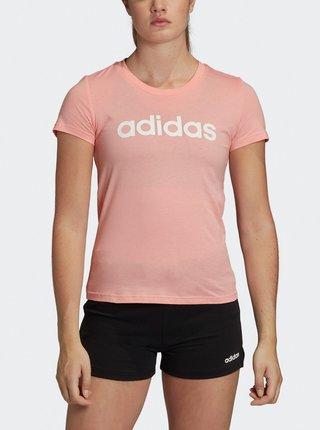 Světle růžové dámské tričko adidas CORE