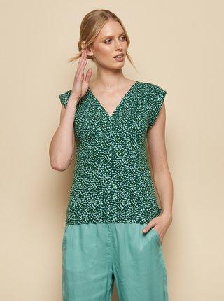 Tmavě zelené vzorované tričko Tranquillo Kalisha