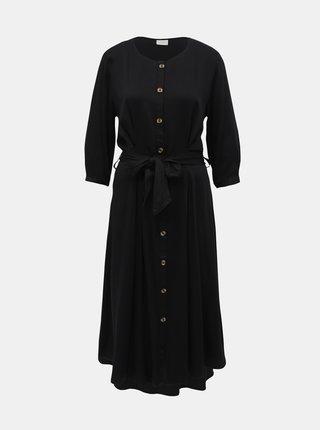 Čierne košeľové šaty Jacqueline de Yong Hea