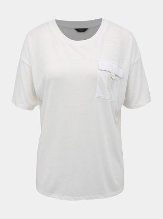 Bílé tričko s náprsní kapsou M&Co