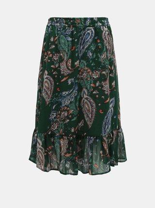 Tmavě zelená vzorovaná sukně Jacqueline de Yong Rufus