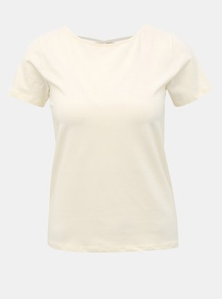 Krémové tričko ONLY Mathilde