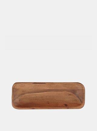 Hnědý dřevěný podnos BUTLERS