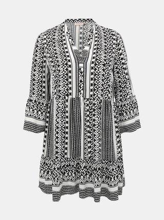 Bílo-černé vzorované šaty ONLY CARMAKOMA