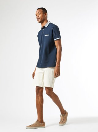Tmavě modré polo tričko Burton Menswear London
