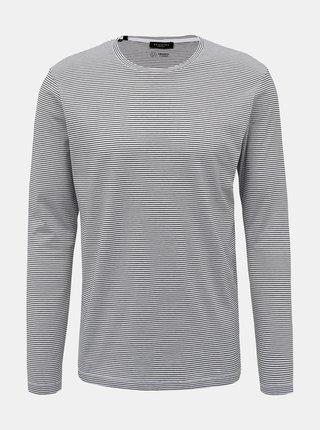 Biele pruhované basic tričko Selected Homme Loui