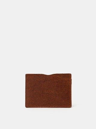 Hnědé kožené pouzdro na karty Makia Mark