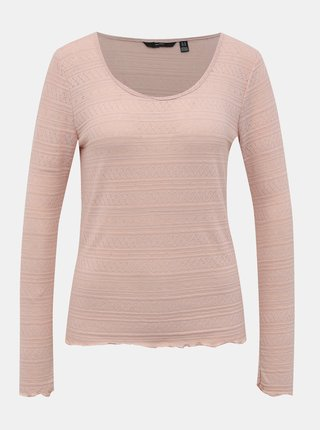 Růžové vzorované tričko VERO MODA Hazel