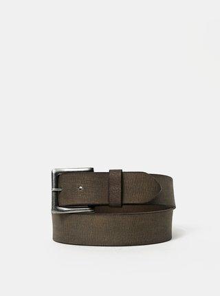 Hnědý kožený pásek ONLY & SONS