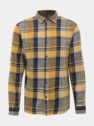 Šedo-žlutá kostkovaná košile ONLY & SONS Say
