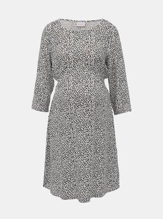 Černo-bílé těhotenské vzorované šaty Mama.licious Alica