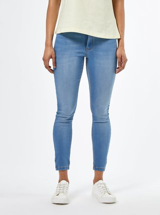 Modré skinny fit rifle Dorothy Perkins Petite