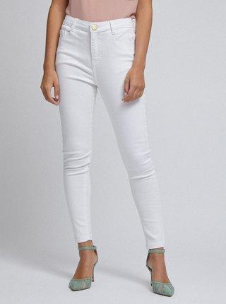 Bílé skinny fit džíny Dorothy Perkins Petite Shape & Lift