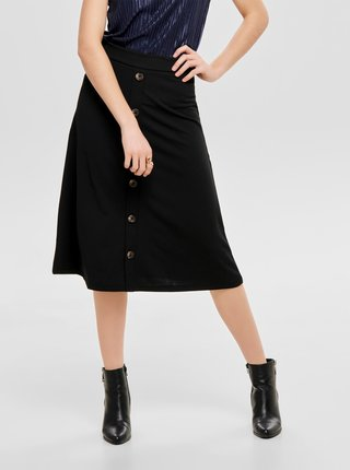 Čierna midi sukňa Jacqueline de Yong Bellis
