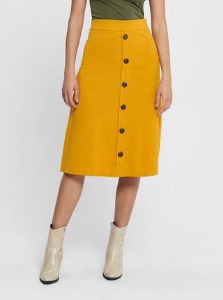 Žltá midi sukňa Jacqueline de Yong Bellis