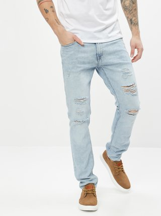 Svetlomodré skinny fit rifle Jack & Jones Liam