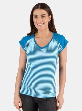 Modré dámske pruhované tričko SAM 73 Jonna