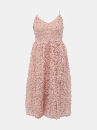 Růžové šaty VILA Scarlet