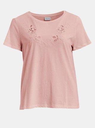 Ružové tričko VILA Drano