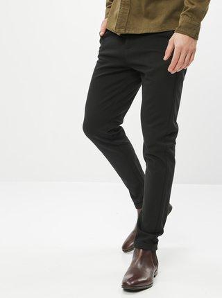 Černé slim fit kalhoty Lindbergh