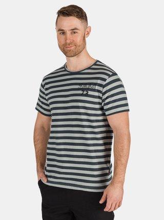 Šedé pánske pruhované tričko SAM 73 Samiar