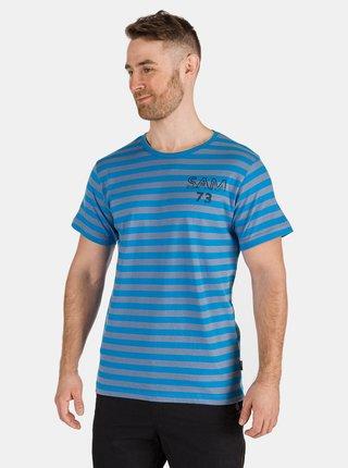 Modré pánske pruhované tričko SAM 73 Samiar