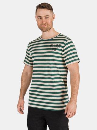 Zelené pánske pruhované tričko SAM 73 Samiar