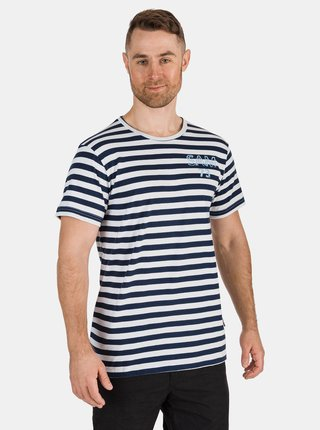 Tmavomodré pánske pruhované tričko SAM 73 Samiar