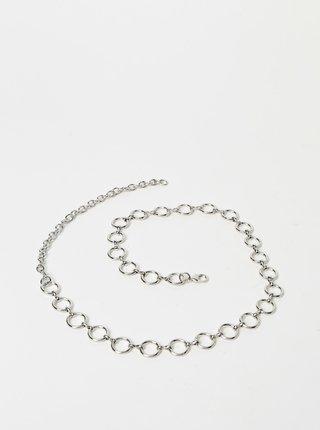 Pásek ve stříbrné barvě Pieces Vina