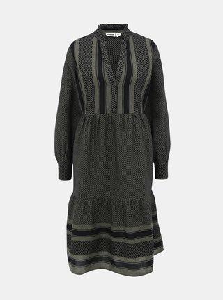 Tmavozelené vzorované šaty Noisy May Winny