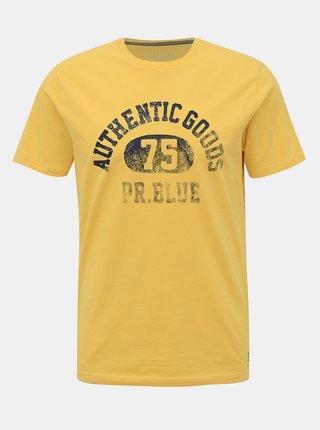 Žluté tričko s potiskem Jack & Jones Brody