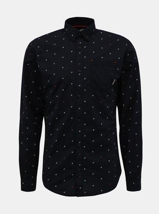 Tmavě modrá vzorovaná košile Jack & Jones Carlo