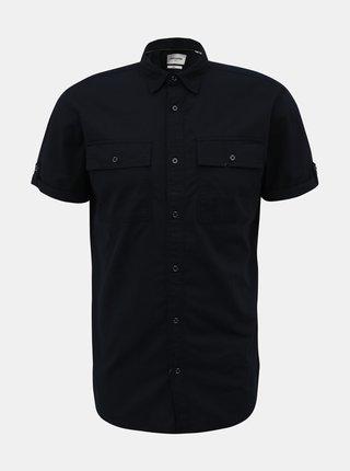 Tmavomodrá slim fit košeľa Jack & Jones Marc