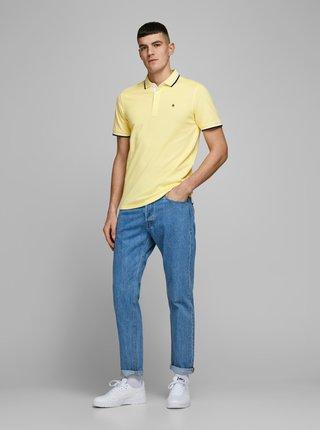 Žluté polo tričko Jack & Jones Paulos