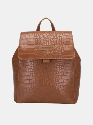 Hnedý batoh s krokodýlím vzorom Claudia Canova Beth