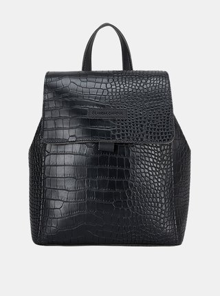 Čierny batoh s krokodýlím vzorom Claudia Canova Beth