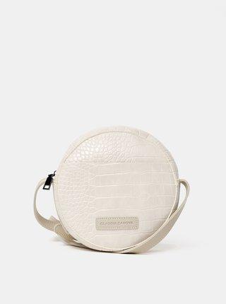 Krémová crossbody kabelka s krokodýlím vzorem Claudia Canova Freya