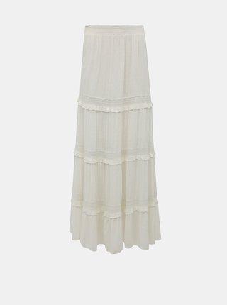 Bílá maxi sukně Miss Selfridge Dobby