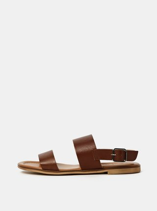 Hnedé kožené sandále OJJU Beta