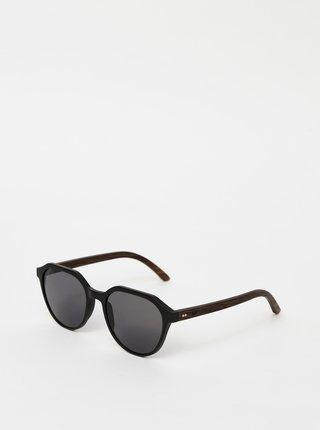 Černé dřevěné sluneční brýle BeWooden Ferguson