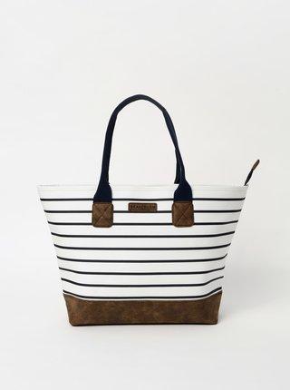 Biela pruhovaná kabelka Brakeburn Stripe Tote