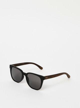 Čierne drevené slnečné okuliare BeWooden Mack