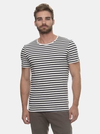 Modro-šedé pánské pruhované basic tričko Ragwear Paul