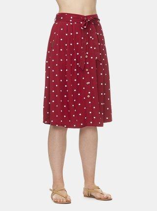 Červená puntíkovaná sukně Ragwear Lejla Dots