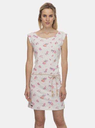 Světle šedé květované šaty Ragwear Tamy Flowers