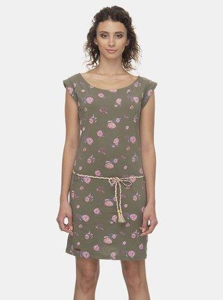 Khaki květované šaty Ragwear Tamy Flowers