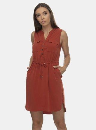 Cihlové šaty Ragwear Roisin