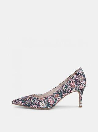 Růžovo-krémové květované lodičky Tamaris