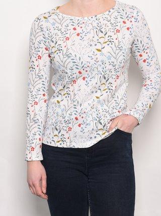 Krémové kvetované tričko Brakeburn
