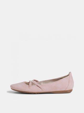 Růžové baleríny Tamaris